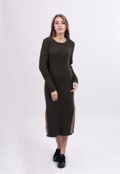 Платье-миди с разрезами