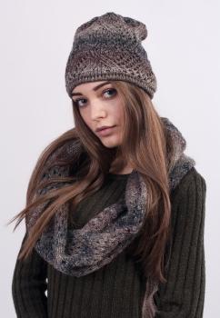 Комплект шапка + снуд