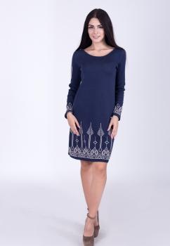 Платье с жаккардовым узором