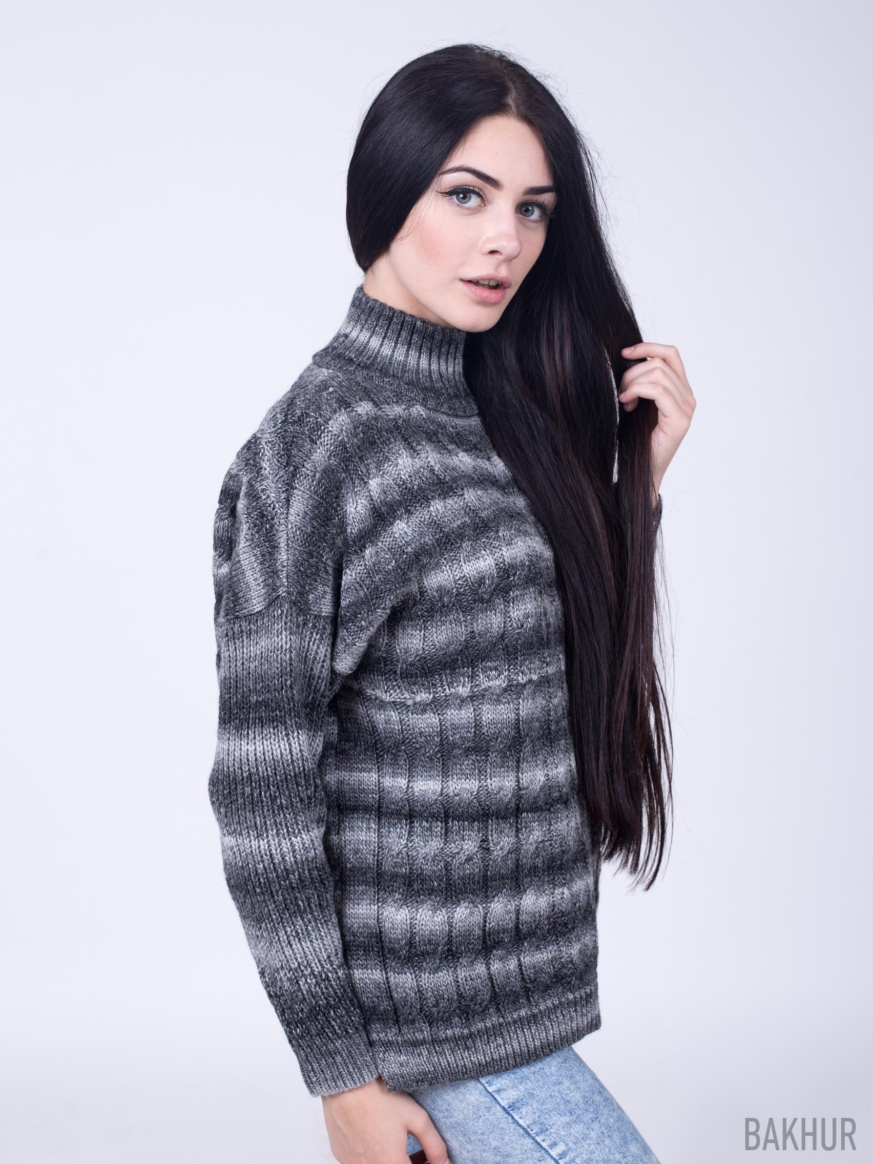 Женские свитера из меланжевой пряжи доставка