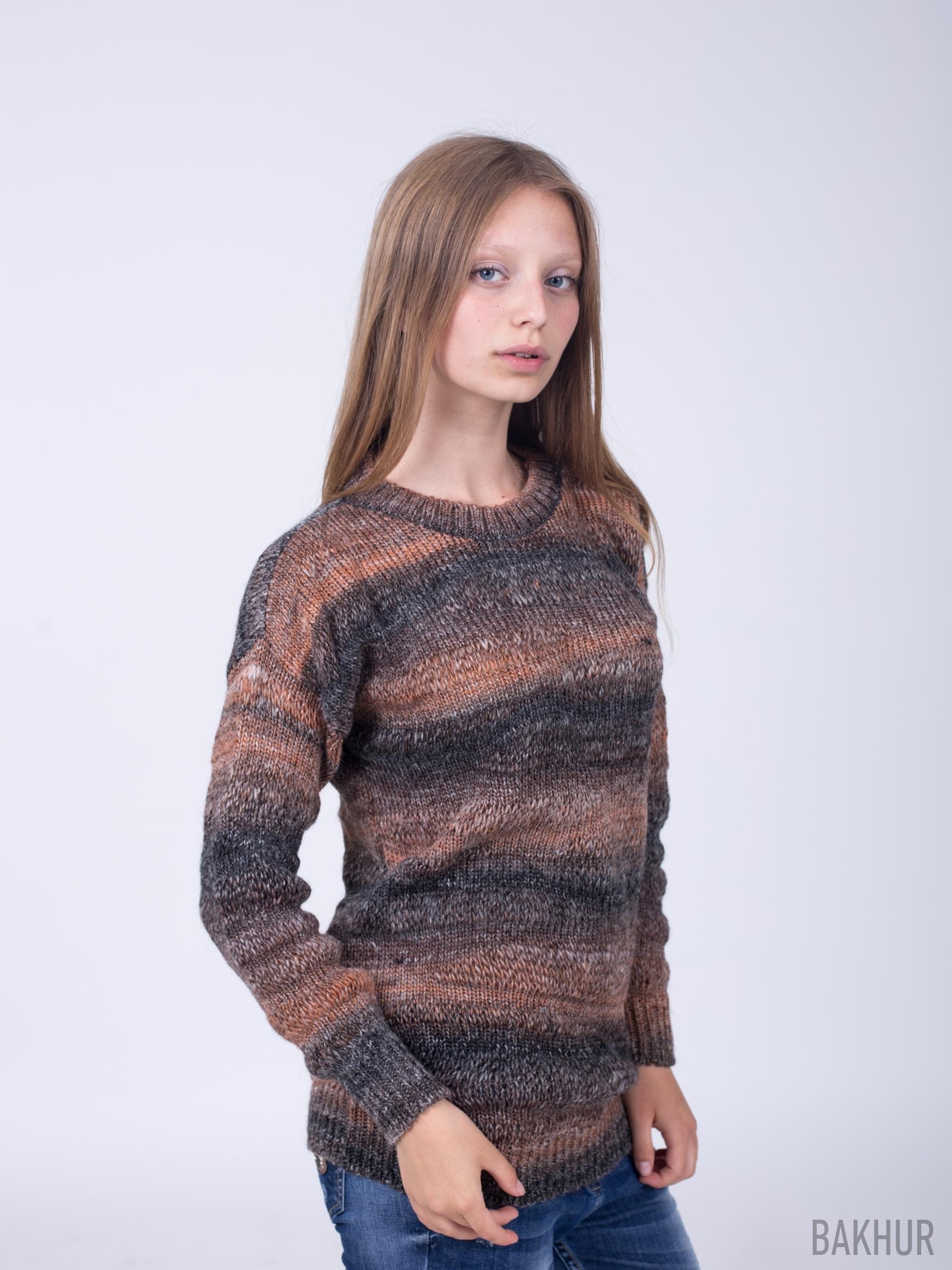 Меланжевый пуловер доставка