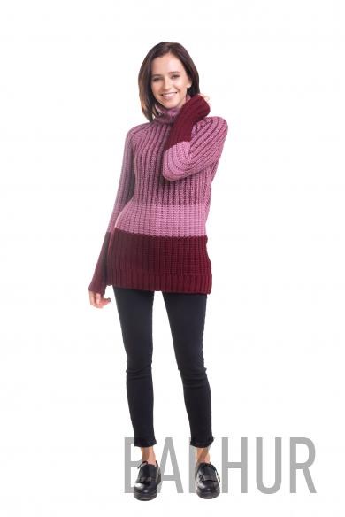 трехцветный свитер