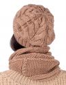 Стильный комплект (шапка с хомутом)